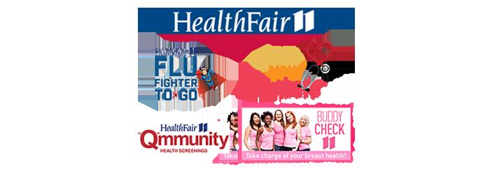 Health Fair 11 logo collage