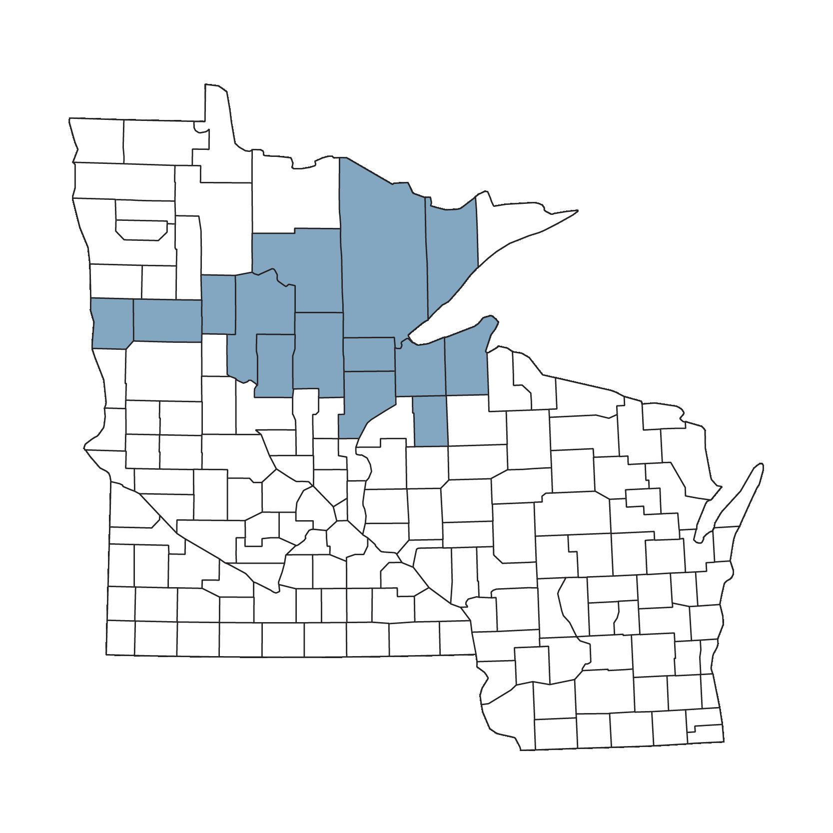 2021 EssentiaCare service area map