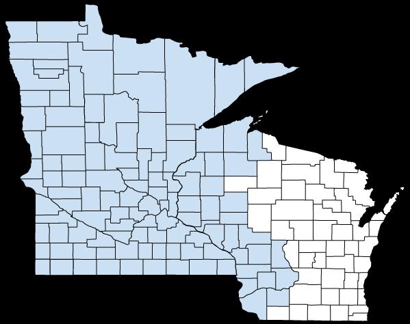 UCare Medicare Group service area map